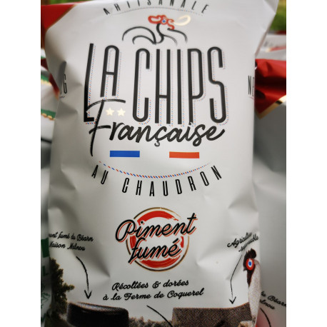 "1 paquet de chips piment  fumé artisanal LOCAL "" COQUEREL """