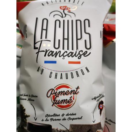 """1 paquet de chips piment  fumé artisanal LOCAL """" COQUEREL """""""