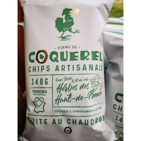 """1 paquet de chips herbes et ail des ours artisanal LOCAL """" COQUEREL """""""