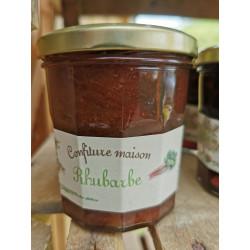 1 pot de CONFITURE DE RHUBARBE bio artisanale locale