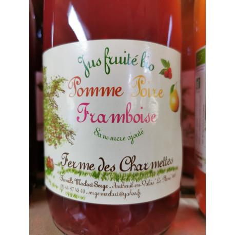 1 bouteille de jus BIO POMME POIRE FRAMBOISE PRODUIT LOCAL