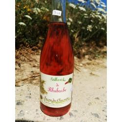 1 bouteille de pétillant RHUBARBE BIO sans alcool local