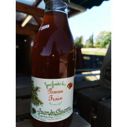 1 bouteille de JUS DE  POMMES-FRAISES BIO - produit local