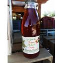 1 bouteille de JUS DE POMME-FRAISE-RHUBARBE BIO - produit local