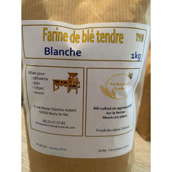"1 paquet de 1kg de ""FARINE BLANCHE "" T110 locale Berzy le sec"