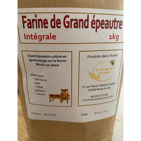 """1 paquet de 1kg de """"FARINE DE GRAND EPAUTRE"""" intégrale local de Berzy le sec"""